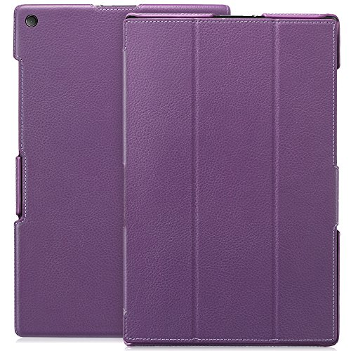 Greatshield Sony Xperia Z2 Tablet [Slim-Fit] Leather Case - Vantage Series Cover With Auto Sleep/Wake Feature - Retail Packaging (Purple)
