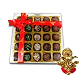 Chocholik Belgium Chocolate Gifts - Stunning Collection Of Truffles With Ganesha Idol - Diwali Gifts