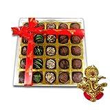Chocholik Belgium Chocolate Gifts - Stunning Collection Of Truffles With Ganesha Idol - Diwali Gifts