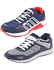Aircum COMBO Pack Of 2 Pair Of Shoes Red & Grey (Sport Shoes)