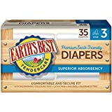 Earth's Best Chlorine-Free Diapers, Size 3, 140 Count
