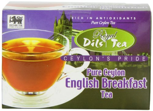 Dil'S Royal Tea, English Breakfast Tea, 20-Count Foil Envelopes (Pack Of 4)