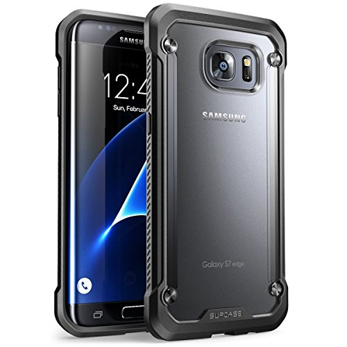 Galaxy S7 Edge Case, SUPCASE Unicorn Beetle Series Premium Hybrid Protective Clear Case for Samsung Galaxy S7 Edge 2016 Release, Retail Package (Frost/Black) (Unicorn Beetle Pro Series compare prices)