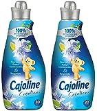 Cajoline assouplissant concentré fleur passion bergamote 750ml 30 lavages - Lot de 2