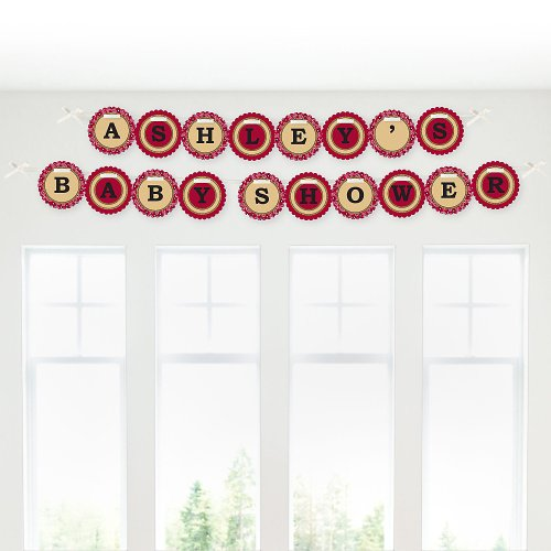 Baby Shower Garland Letter Banners - Little Cowboy front-703237