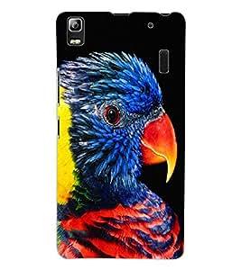 ColourCraft Beautiful Parrot Design Back Case Cover for LENOVO A7000 TURBO