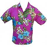 Camisa hawaiana Vintage niño Rosa rosa