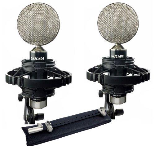 Cascade Microphones Fat Head Ii Blumlein, Stereo Pair, Black/Silver