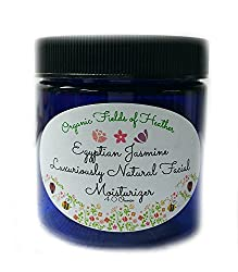 Organic & Natural Facial Moisturizer - All Natural Face Cream - NOW 4 Oz Exotic Egyptian Jasmine Scent - ORGANIC INGREDIENTS - Anti-Aging - For Women or Men - Will not dry out your skin or leave a long lasting oily residue. Will heal your damaged skin and naturally reverse early signs of aging. Terrific for EVERY skin type, Oily, Dry, Sensitive or Normal - Natural vitamin content nourishes - NO- Sulfates, Pthalates, Parabens, Or Dyes