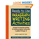 Ready-to-Use Paragraph Writing Activities, Unit 3 (Writing Skills Curriculum Library)