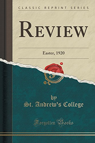 Review: Easter, 1920 (Classic Reprint)