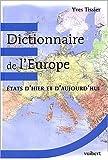 echange, troc Yves Tissier - Dictionnaire de l'Europe