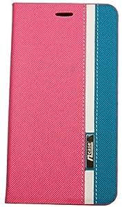 nCase Flip Cover for Asus Zenfone 2 ZE551ML (Pink, Blue)