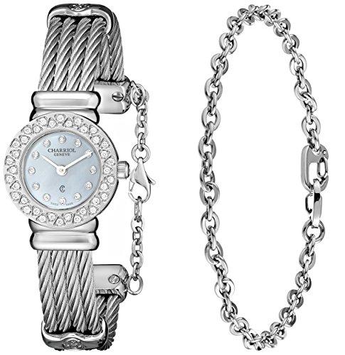 charriol-damen-20mm-silber-edelstahl-armband-gehause-uhr-st20sd520007