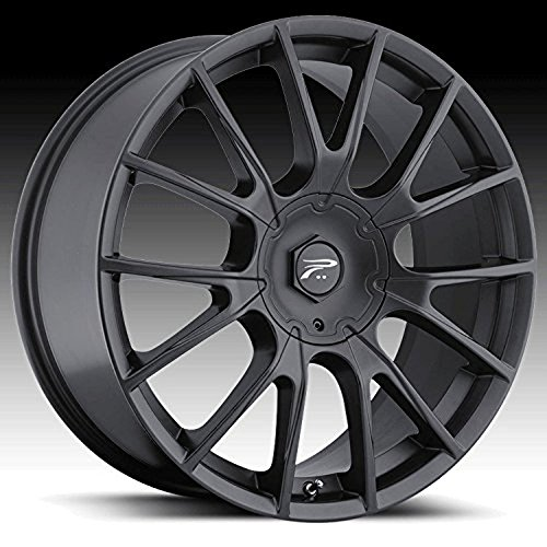Platinum Marathon 16 Black Wheel / Rim 5x110 & 5x115 with a 42mm Offset and a 73 Hub Bore. Partnumber 401-6710B+42 (Cadillac Fleetwood Rims compare prices)