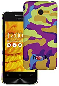 Heartly Army Style Retro Color Armor Hybrid Hard Bumper Back Case Cover For Asus Zenfone 4 A450CG - Yellow Field