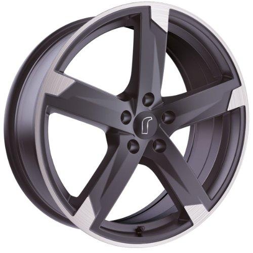 1 x Rondell Z Design 01RZ in 7,5 x 17 ET 35 LZ/LK 5 x 112 Farbe Anthrazit matt, poliert für Audi Q5 Typ 8R, 8R1, 8R2