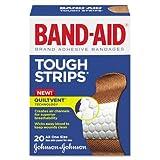 BAND-AID Flexible Fabric Adhesive Tough Strip Bandages, 1 x 3-1/4, 20/Box