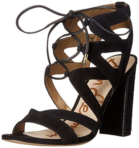 Sam Edelman Women's Yardley Heeled Sandal, Black, 6.5 M US