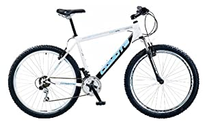 Coyote Men's Coyote Seattle 18 Speed Hardtail Mountain Bike - (White/Black, 19 Inch, 26 Inch) (Old Version)