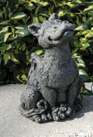 Awesome Little Darling Dragon U0027Rexyu0027 U2013 Cast Stone Garden Statue