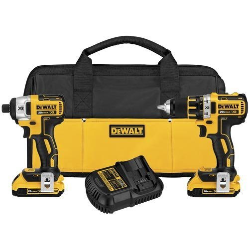 DEWALT DCK281D2 20V Max XR Lithium Ion Brushless Compact Drill/Driver & Impact Driver Combo Kit (Drill Lithium Ion compare prices)