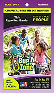 0Bug!Zone 4 Piece Tick Barrier Tags for People