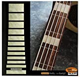 Fretboard Markers Inlay Sticker Decals for Bass - Jazz Bass Block for 5 string - AWP
