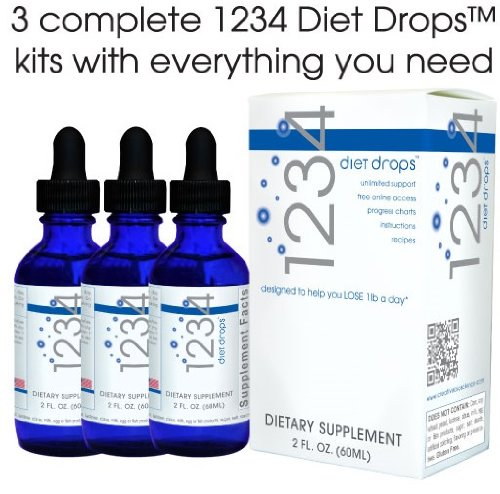 Creative Bioscience 1234 Diet Drops, 2 Ounce (Super Value 3 Pack)