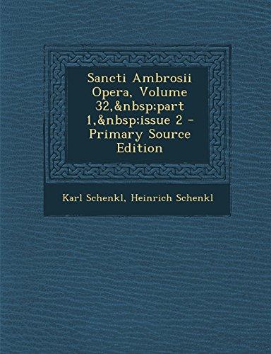 Sancti Ambrosii Opera, Volume 32,part 1,issue 2