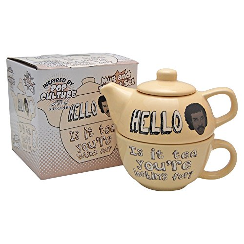 Hello Is It Tea You're Looking For? Teapot and Mug Set - Lionel Richie Classic singer (with free key ring) (Novelty Teapots compare prices)