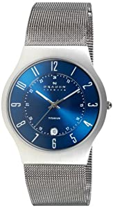 Skagen Men's 233XLTTN Grenen Quartz 3 Hand Date Titanium Gray Watch
