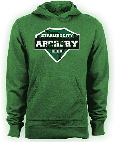 Arrow-Starling City-Felpa con cappuccio e tiro con l'arco, serie TV verde Medium