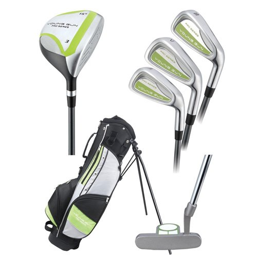 Young Gun PRO GREEN RH Junior golf club set & bag (for player heights 54