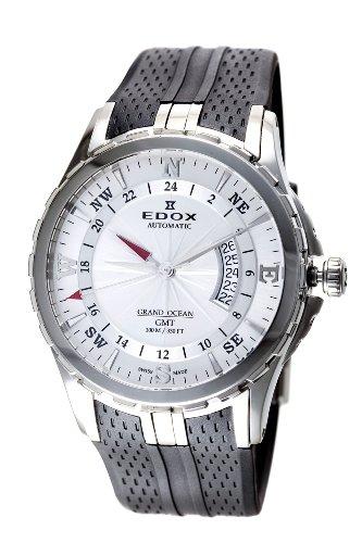 Edox Men's 93004 3 AIN Automatic GMT Grand Ocean Watch