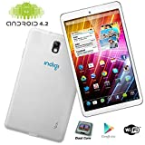 "Indigi® 7.0"" Fastest Dual-Core White Android 4.2 Tablet PC HDMI Google Play Leather Back review"