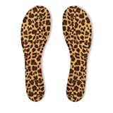 Summer Soles Softness of Suede Stay-Dry Women's Full Length Insoles, 3 Pair, Leopard, Sizes 5-11