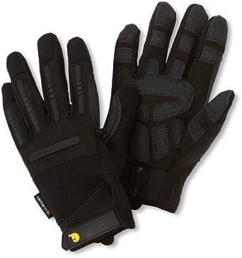 Carhartt Men's Ballistic Spandex Work Glove with TPR Knuckle Protection, Black, Medium