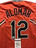 Autographed/Signed Roberto Alomar Baltimore Orioles Orange Baseball Jersey JSA COA