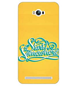 PrintDhaba QUOTE D-6118 Back Case Cover for ASUS ZENFONE MAX ZC550KL (Multi-Coloured)