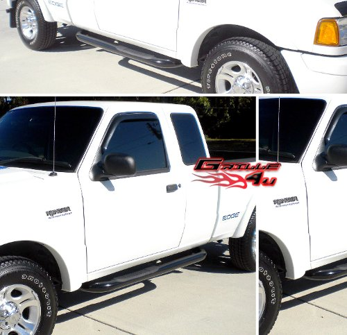 98 11 2011 ford ranger super cab 2dr black side step nerf bars womoomonoaera. Black Bedroom Furniture Sets. Home Design Ideas