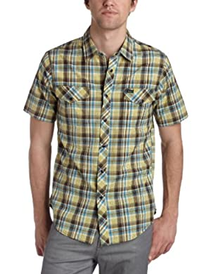 RVCA Men's Country Plaid Woven Shirt
