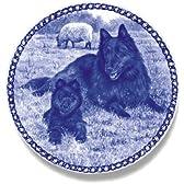 デンマーク製 ドッグ・プレート (犬の絵皿) (ベルジアン・シェパード・ドッグ・グローネンダール)