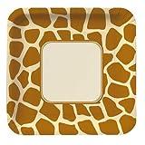 Giraffe Print Lunch Plates|8 Pcs
