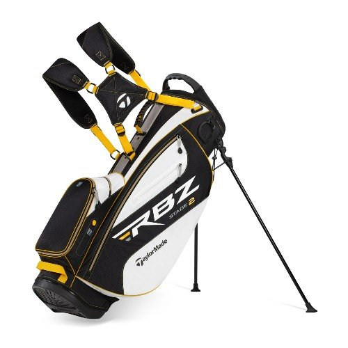 TaylorMade Triton Stand Bag, White/Gray/Black/Gold