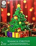 "Gibson Whimsical Christmas Handpainted 10"" Christmas Tree Cookie Jar"