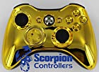 Xbox 360 Modded Controller Gold 220+ mods By Scorpion Controllers