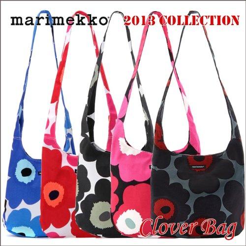 marimekko マリメッコ CLOVER クローバー キャンバス ショルダーバッグ 5柄 (Black)