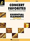 img - for CONCERT FAVORITES VOL1 TUBA (Essential Elements 2000 Band) book / textbook / text book