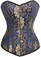 Charmian® Women's Beautiful Steampunk Brocade Steel Boned Boby Shape Overbust Corset